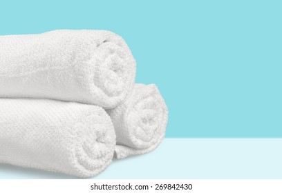 Towel, Laundry, Rolled Up.
