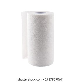 towel paper over white background