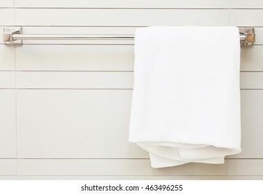 Towel rail in the bathroom