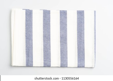 towel striped cloth set isolated on white background