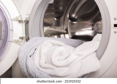Towels in the washing machine