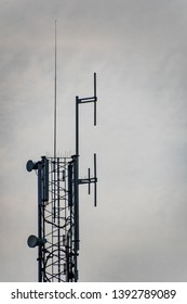 Tower with 5g 3g wifi antennas