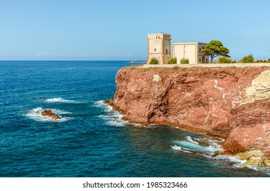 The Tower Alba or Tower of Cala Rossa, is a defense tower on the coast of the Mediterranean sea in Terrasini, province of Palermo, Sicily, Italy