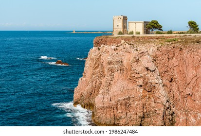The Tower Alba or Tower di Cala Rossa, is a defense tower on the coast of the Mediterranean sea in Terrasini, province of Palermo, Sicily, Italy