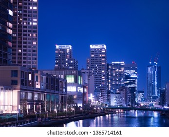 Tower apartment town in the seaside area of Tokyo
