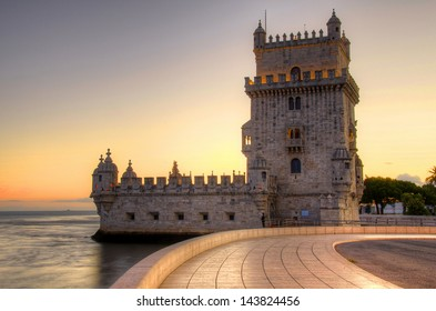 Tower of Belem at sunset, Lisbon, Potugal