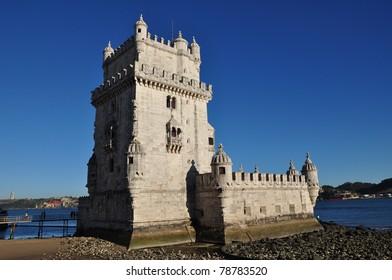 Tower of Belem / Torre de Bélem in Lisbon, Portugal at the Tagus river