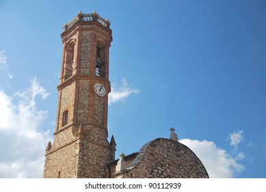 Tower bell of El Bruc's church in Catalonia, Spain