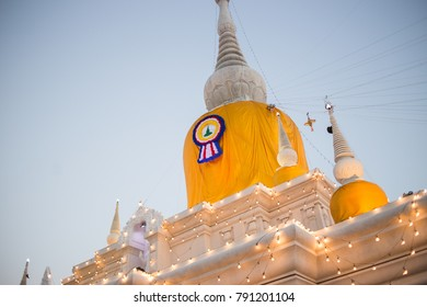 Tower bhudda of asian on sunset