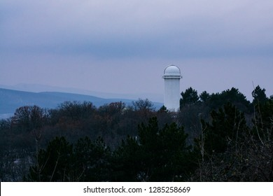The tower of the Big Solar Telescope in the Crimean astrophysical obesrvatory in Nauchny village