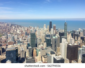 tower blocks in chicago city