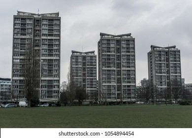 Tower Blocks in London Council Estate