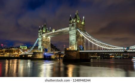Tower Bridge across the River Thames in London
