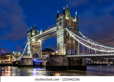 Tower Bridge across the river Thames in London