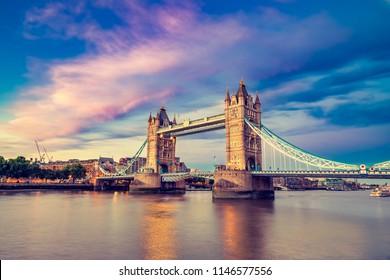 Tower Bridge at beautiful sunset