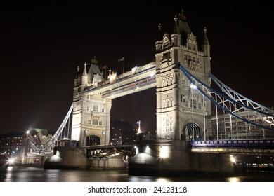 Tower Bridge by Night in London, UK