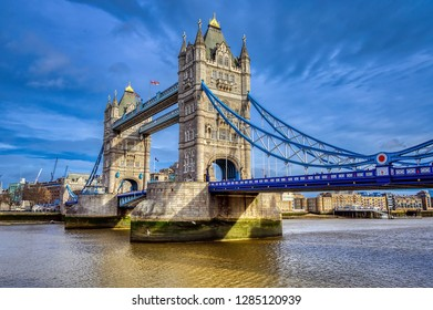 Tower Bridge in the city of London, England, UK