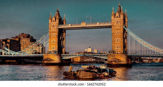 Tower Bridge - The bridge crosses the River Thames close to the Tower of London and has become an iconic symbol of London.