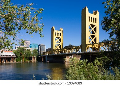 Tower Bridge and downtown Sacramento