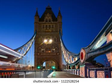 Tower Bridge in the evening, London, United Kingdom