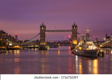 Tower Bridge just before dawn