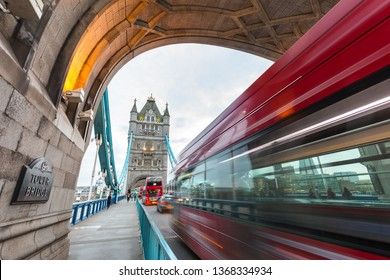 Tower Bridge in London in the evening