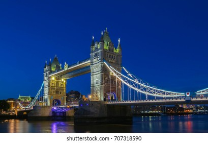 The Tower Bridge in London in the evening, England, United Kingdom.