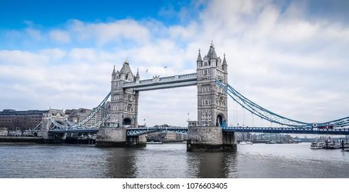 Tower Bridge London. Horizontal view.