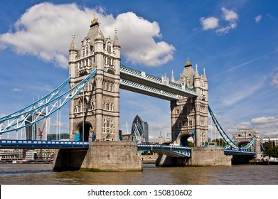 Tower Bridge in London on a beautiful sunny day