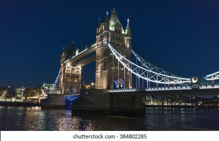 Tower Bridge London over River Thames - beautiful night view