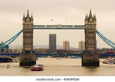 The Tower Bridge in London. Picture taken 21/12/2015.