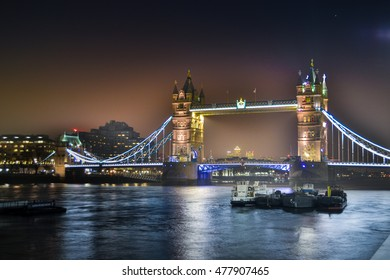 Tower Bridge, London, right after sunset