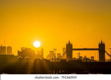 Tower Bridge London sunrise