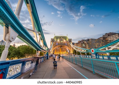 The Tower Bridge magnificence in London.