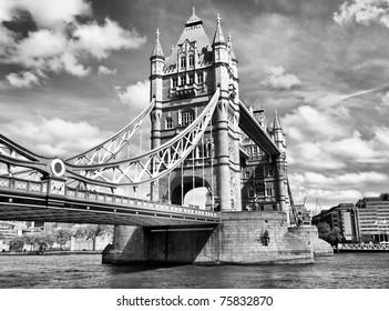 Tower Bridge on River Thames, London, UK - HDR