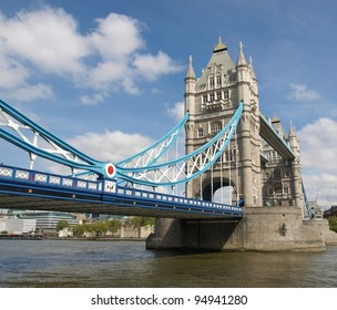 Tower Bridge on River Thames, London, UK