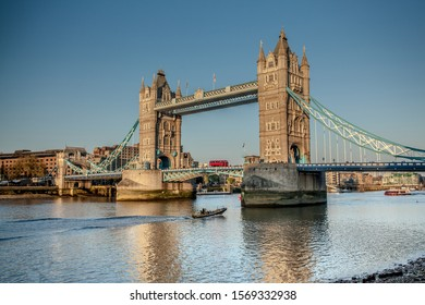 Tower Bridge is one of London's famous bridges and one of many must-see landmarks in London with a glass floor and modern exhibitions it is a must visit.London England UK,September 12 2019