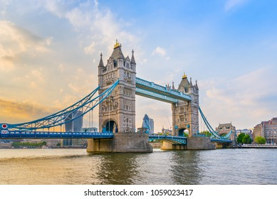 Tower Bridge over River Thames in London, United Kingdom