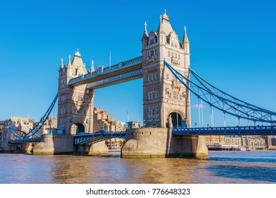 Tower Bridge and River Thames view in London