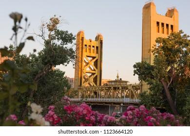 Tower bridge in Sacramento, CA