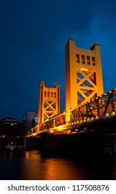 The Tower Bridge in Sacramento, California.