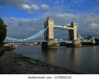 Tower Bridge spanning over the Thames River in London, England, United Kingdown