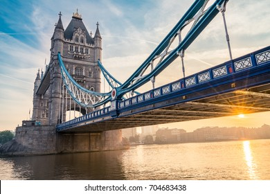 Tower Bridge with sun flare