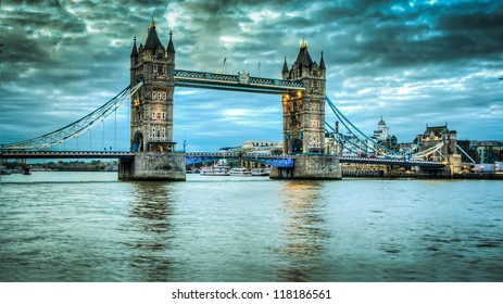 Tower Bridge at sunrise HDR