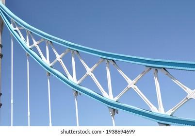 A Tower Bridge suspension girder, London.