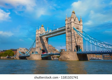 Tower Bridge that crosses River Thames in London, UK London