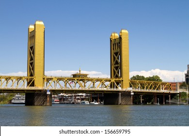 Tower Bridge is a vertical lift bridge in Sacramento, California and spans the Sacramento River and is on the National Register of Historic Places.