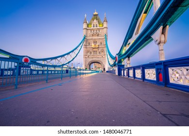 Tower Bridge viewed in the morning in London. England