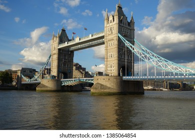 Tower Bridge - the bridge which crosses the River Thames close to the Tower of London and has become an iconic symbol of Lon