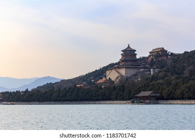 Tower of Buddhist Fragrances in the hills at the Summer Palace, Beijing, China.